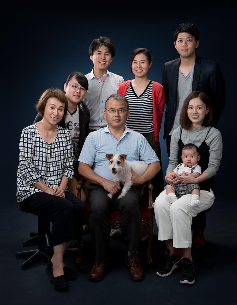 あかい写真館撮影「家族写真」